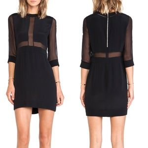IRO Black TINA Sheer Panel Dress NWT - Flawed